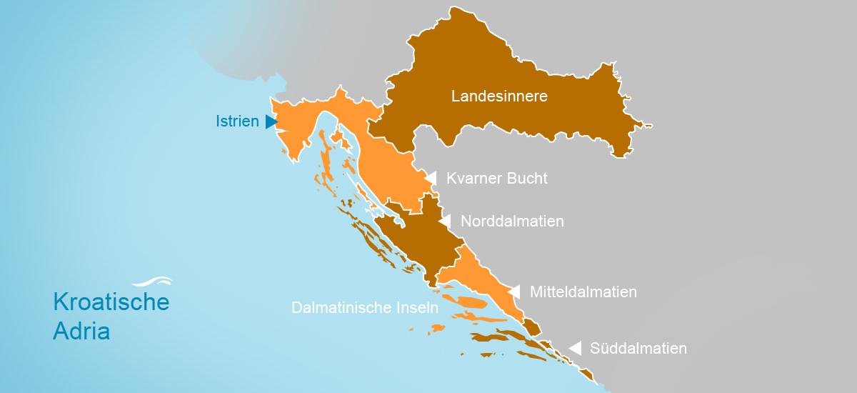 Urlaubsregionen Kroatien