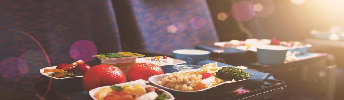 vegetarisches Essen im Flugzeug