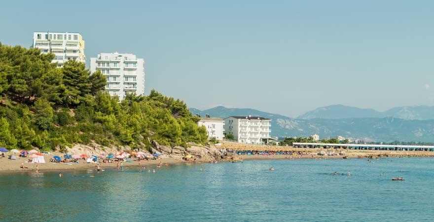 Strand Shengji in Albanien