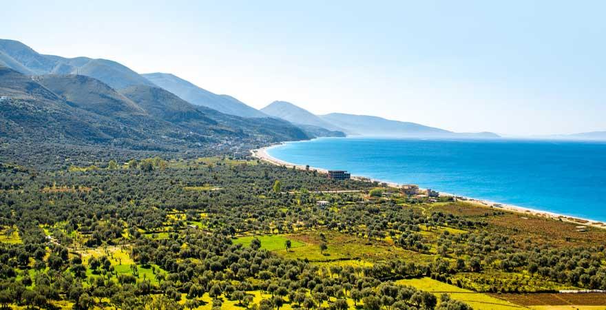 borsh strand in albanien