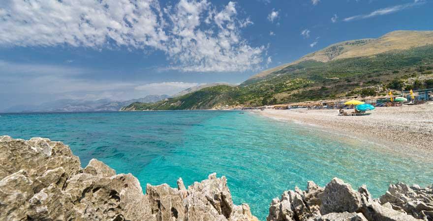 strand saranda in albanien