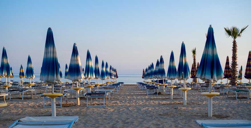 Strand durres in albanien