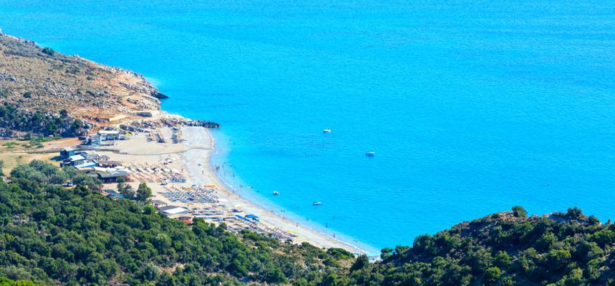 Strand Lukove in Albanien