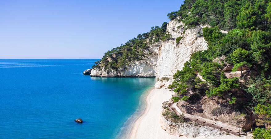 Baia delle Zagare in Apulien
