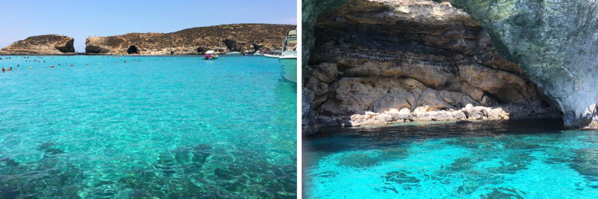 The beautiful blue lagoon on Malta