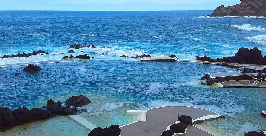 Lava Pools auf Madeira