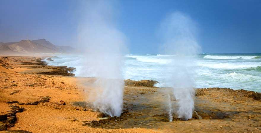 Wasserfontäne in Salalah