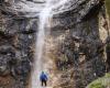 Wasserfall Mann