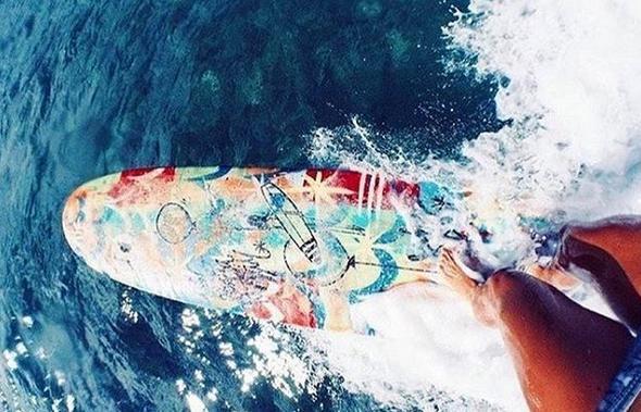 Surfbrett Meer
