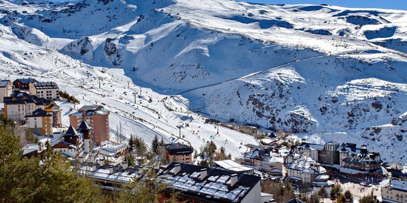 Skigebiet in Spanien