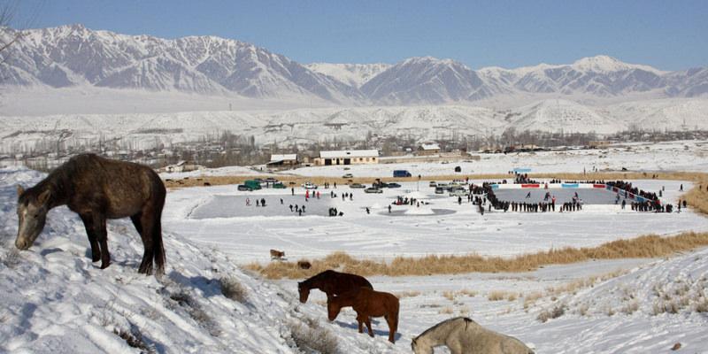 Winter in Kirgistan