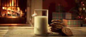 Milch und kekse an weihnachten
