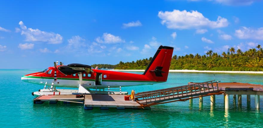 Wasserflugzeug Malediven