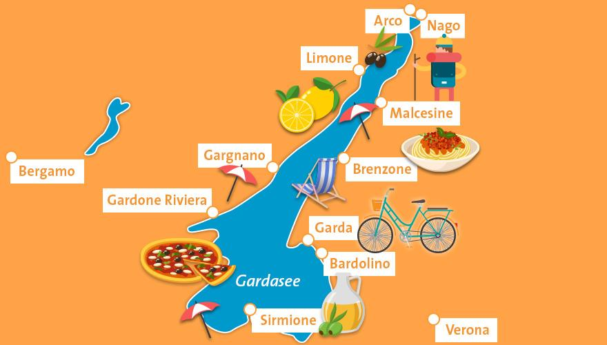 Karte Gardasee