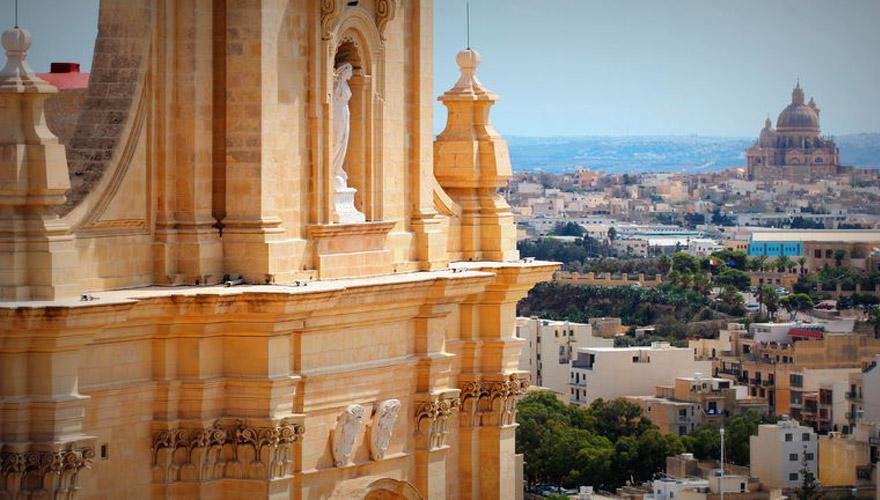 Blick auf Gozo
