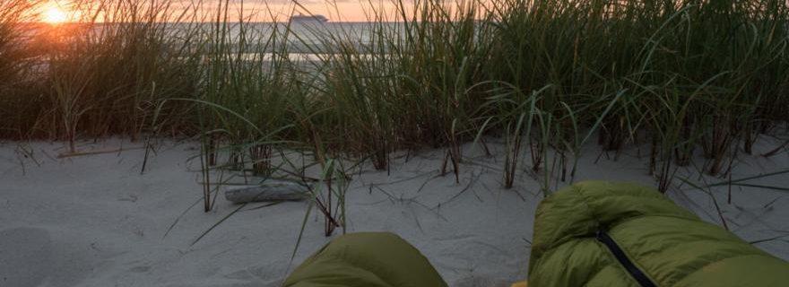 Camping in den Dünen an der Ostsee