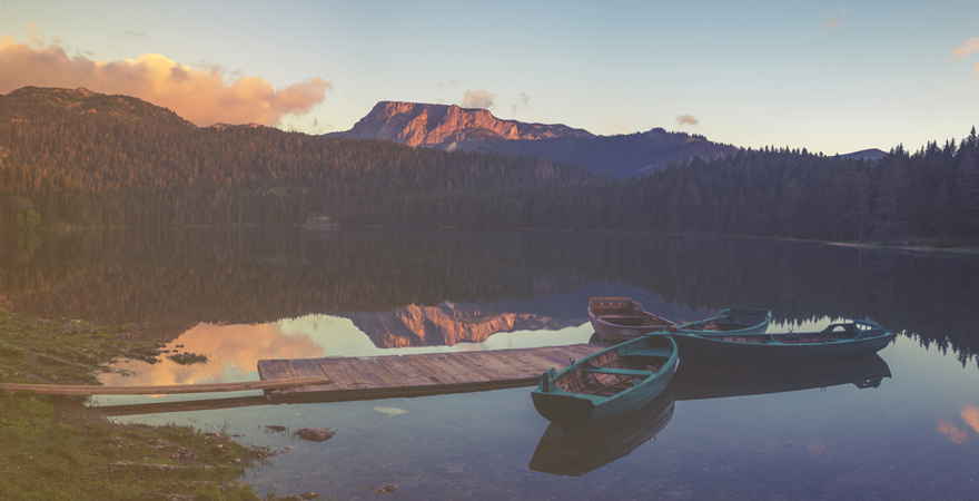 Der Schwarze See, das Crno Jezero, im Durmitor-Nationalpark