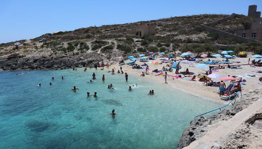 Hondoq Bucht auf Gozo
