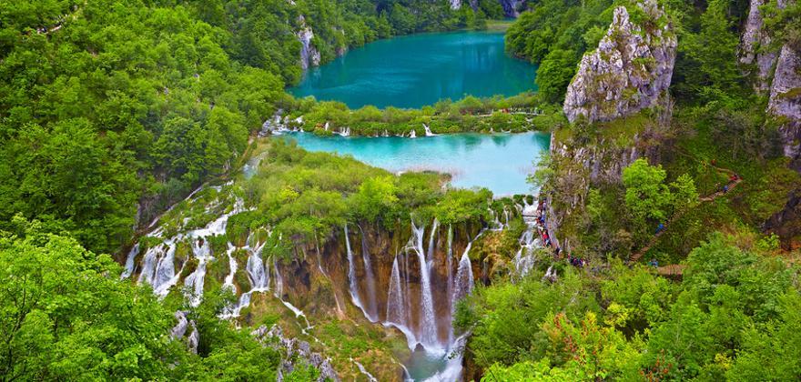 Plitvicer See in Kroatien