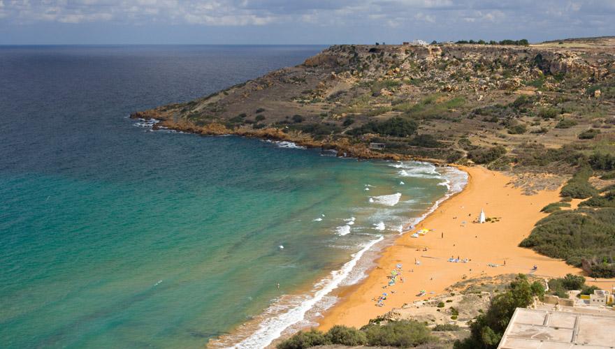 Blick auf Ramla bay auf Gozo