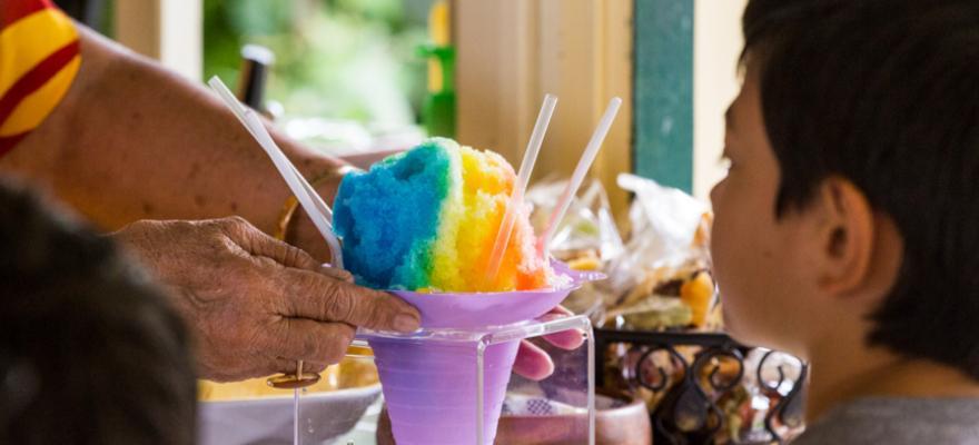 shaved Ice ist ein beliebtes Dessert auf Hawaii