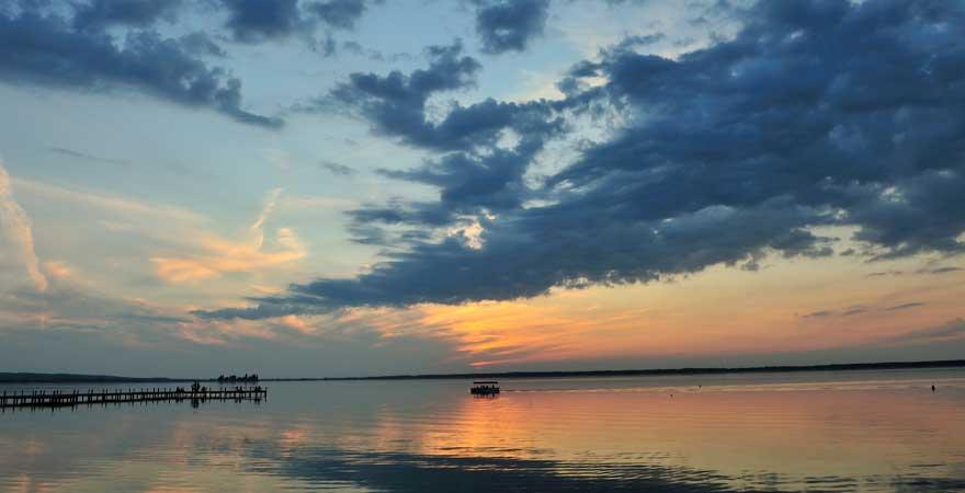 Steinhuder Meer bei Sonnenuntergang