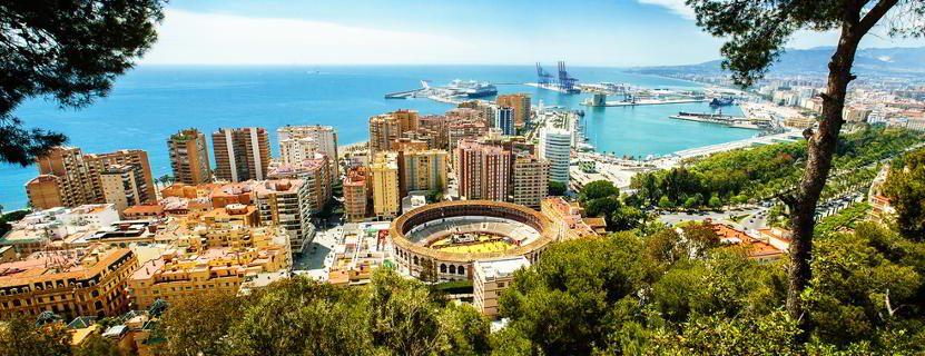 Blick auf Malaga