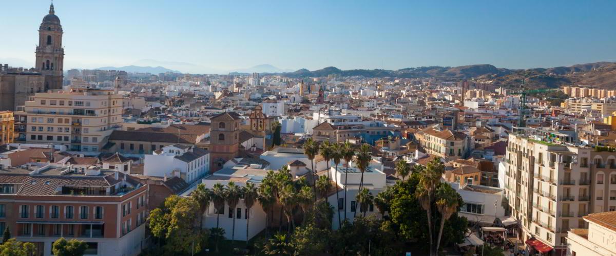 Ausblick über Malaga von Teatro Romano