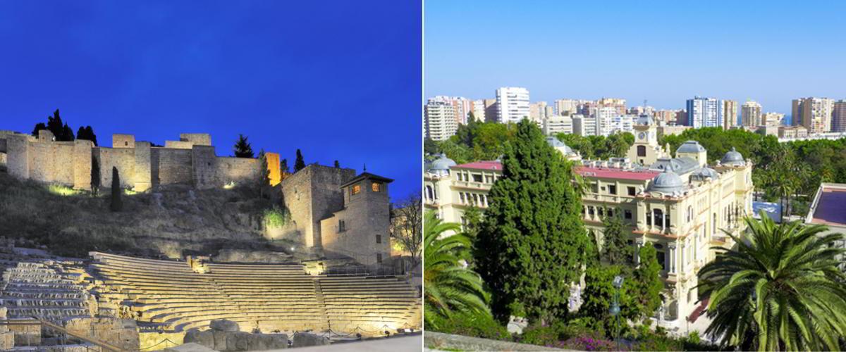 alcazaba malaga und Blick über Malaga