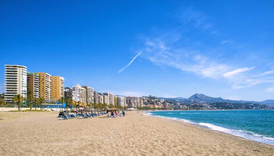 Strand Malagueta in Malaga