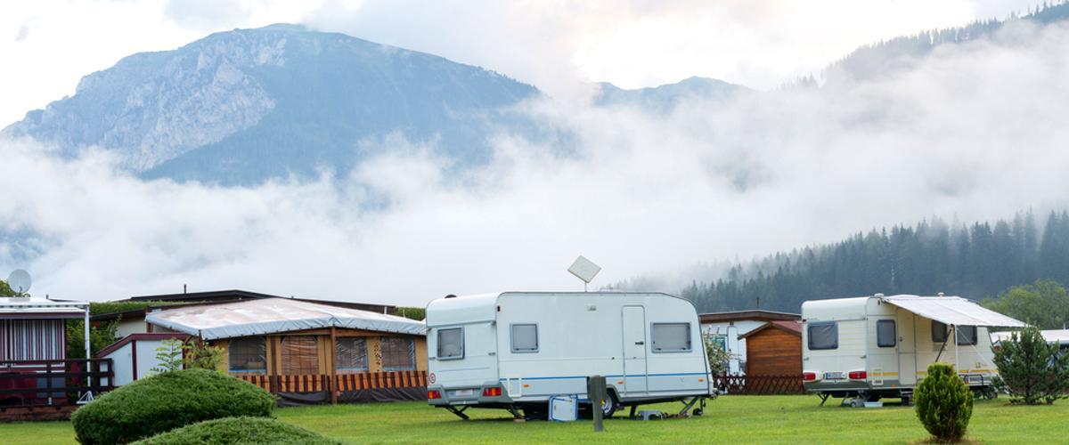 Der Campingplatz ist eine eigene Welt.