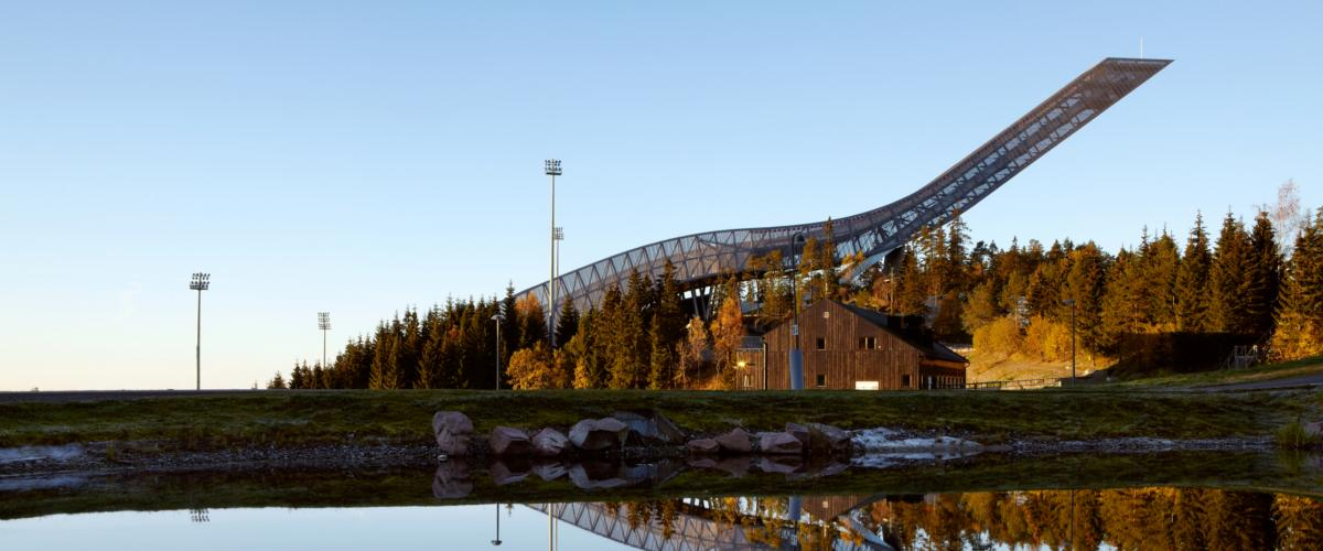 Die Skisprungschanze am Holmenkollen