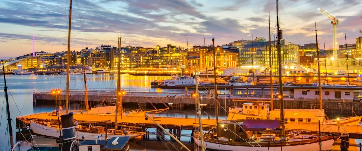 Der Hafen in Oslo