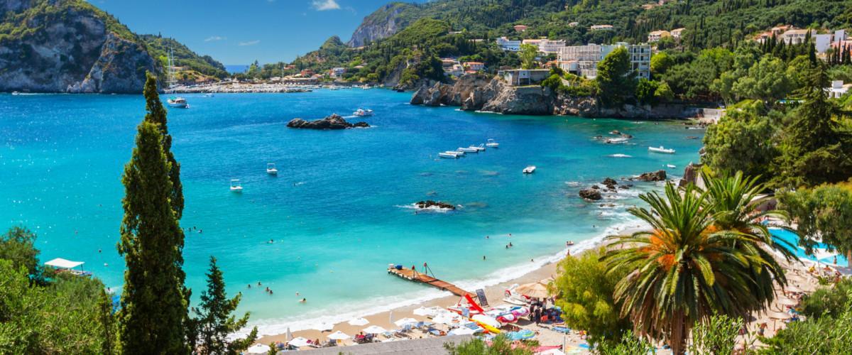 Eine Bucht in Korfu.