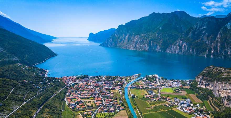 Blick auf Trentino am Gardasee