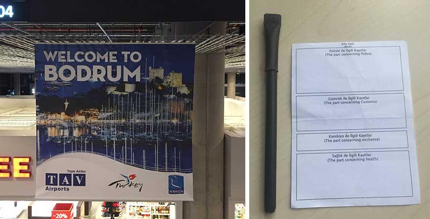 Einreisekarte Bodrum