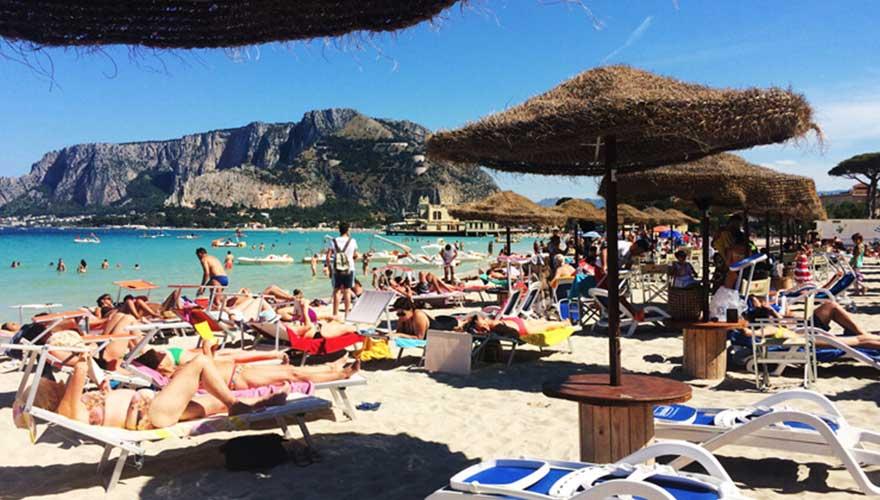 Mondello beach