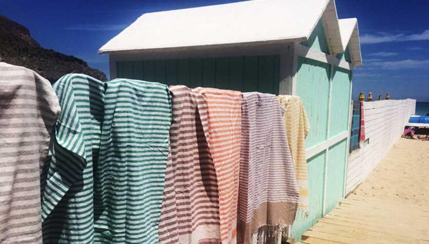 Strandhütten Mondello Beach
