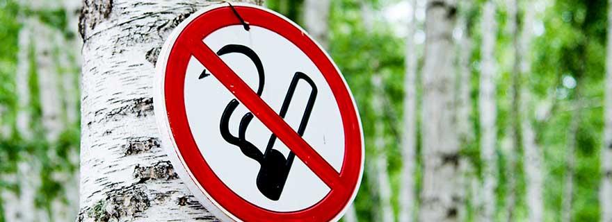 Verbotsschild Rauchen