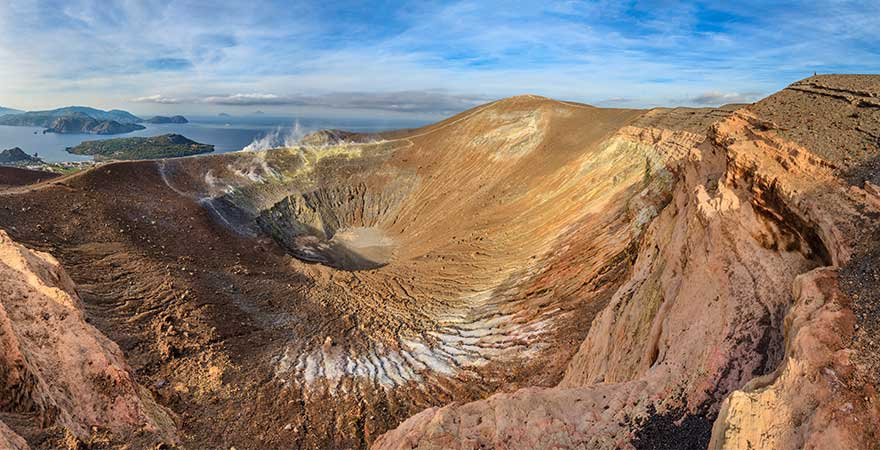 Vulcano in Italien