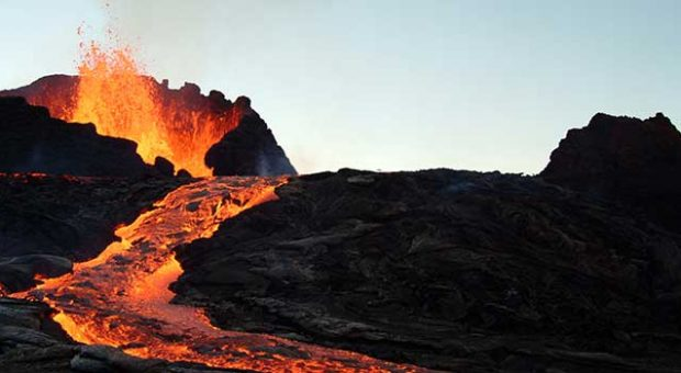 Vulkanausbruch, Magma