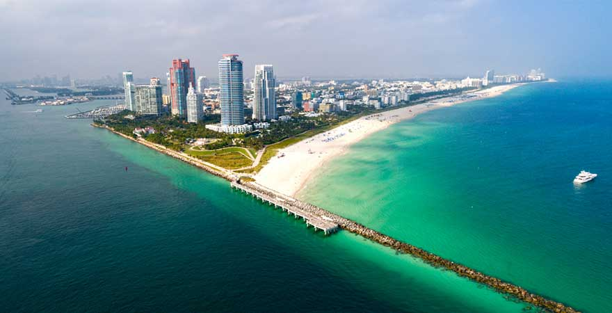 Miami Beach in den USA
