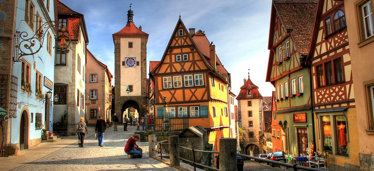 Die Stadt Rothenburg.