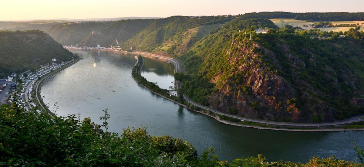 Ausblick über das Tal der Loreley.