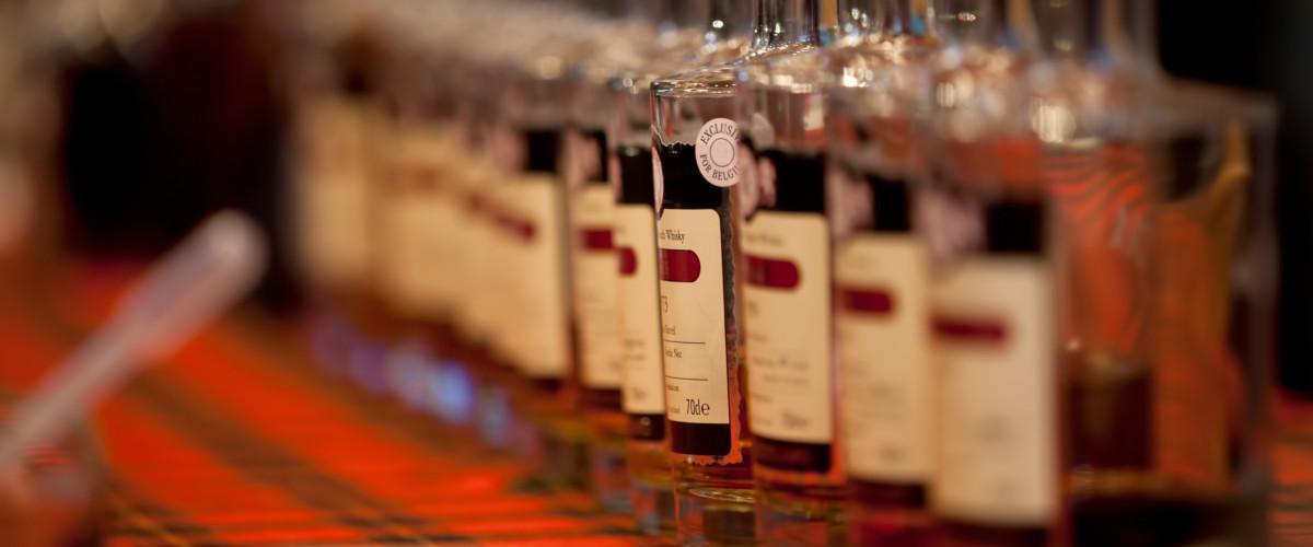 Verschiedene Whiskysorten.