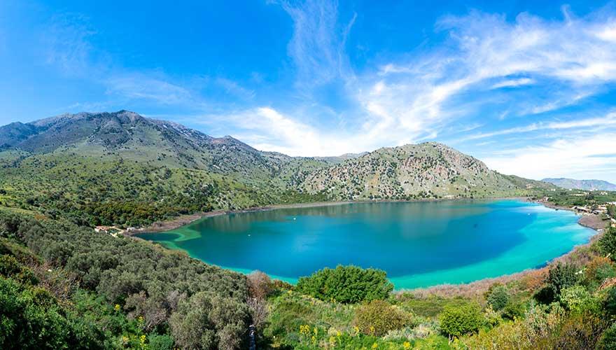 Süßwassersee bei Chania auf Kreta