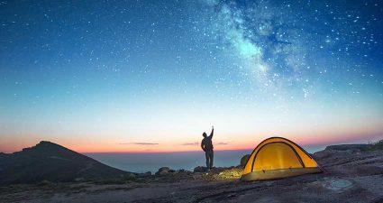 Wildcampen in Skandinavien, Polarlichter