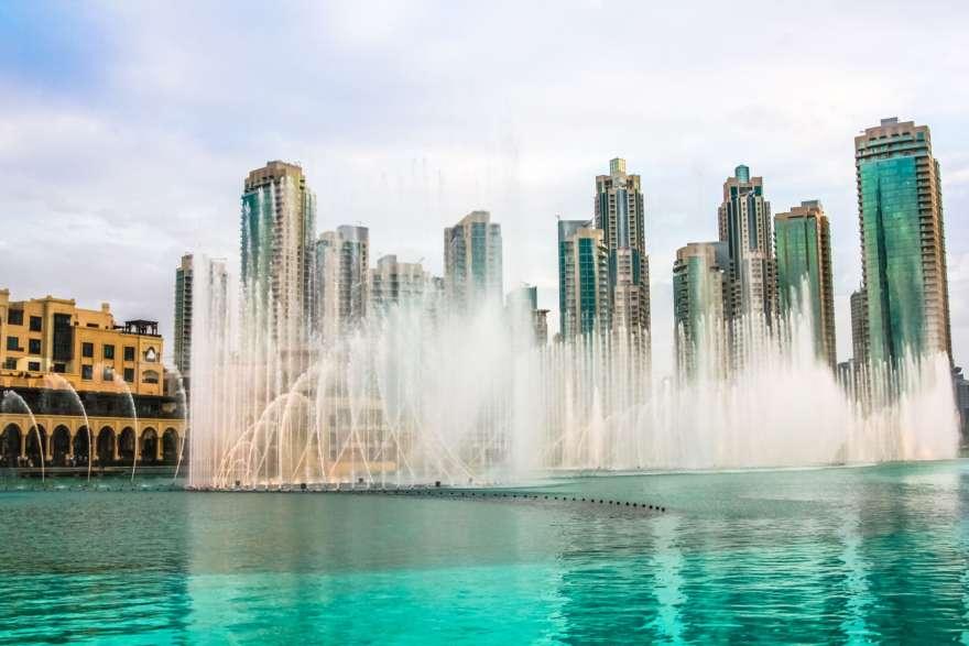 Dubai Fountain bei der Dubai mall2