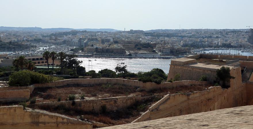 Ausblick von Hastings Garden, Valletta