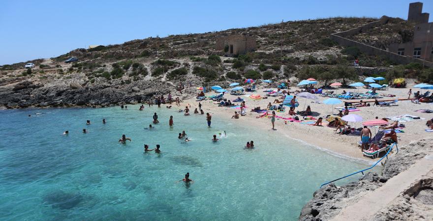 Der letzte Stopp unserer Jeep-Safari auf Gozo: Hondoq ir-Rummien Bay